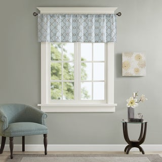 Madison Park Avalon Faux Silk Embroidered Window Valance