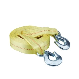 "Speedway 2"" X 20' Heavy Duty Tow Strap With Safety Hooks"