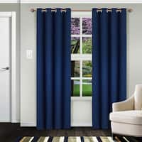 Superior Solid Insulated Thermal Blackout Grommet Curtain Panel Pair