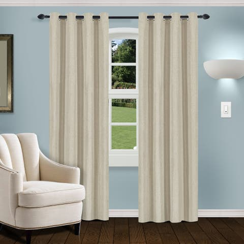 Superior Linen Insulated Thermal Blackout Grommet Curtain Panel Pair