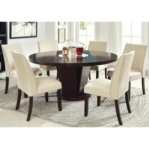 Furniture Of America Lolitia Espresso Round Wood Dining Table