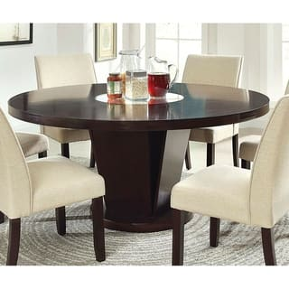 Furniture Of America Lolitia Espresso Round Wood Dining Table