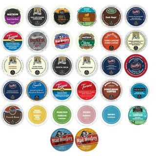Martinson, Van Houtte, Marley, Green Mountain, Timothy's and More, Variety Sampler of Keurig Compatible Single Cups, 32 Count