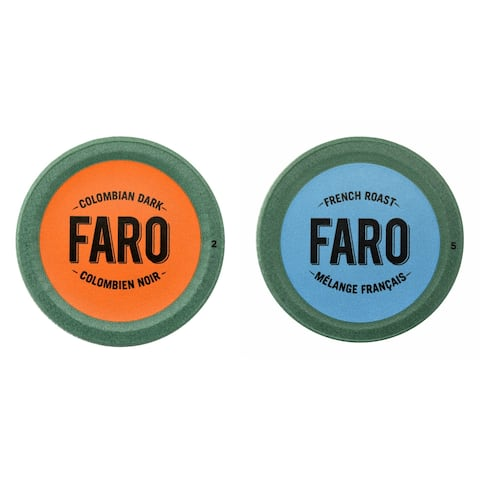 Faro Colombian Dark & French Roast Coffee, Dark Roast, Compostable Single Serve Cup for Keurig Brewers, 24 Count