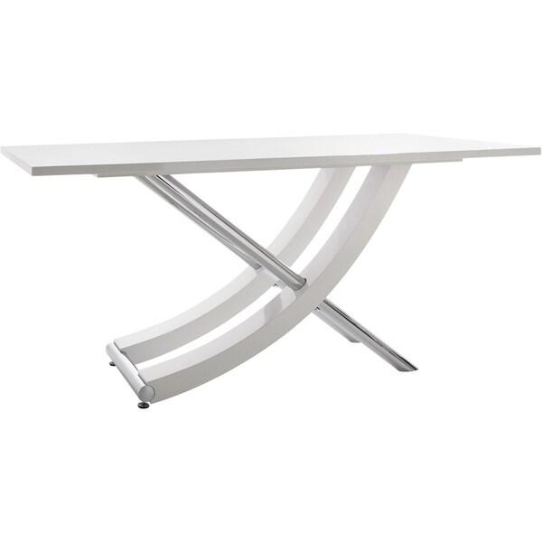 Carl High Gloss Chrome Dining Table