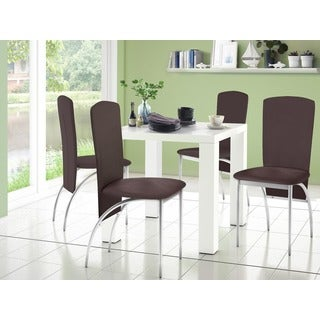 Captivating Scandinavian Living Snow White High Gloss Square Dining Table