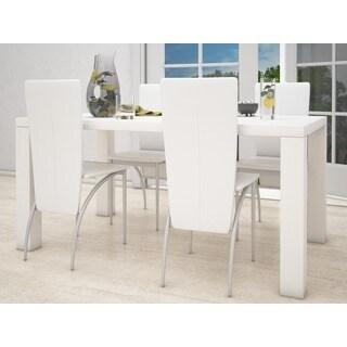 Scandinavian Living Snow White High-gloss Rectangular Dining Table