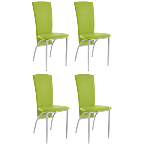 Scandinavian Living Nevada Dining Chairs (Set of 4) - 37.8 inches high x 17.7 inches wide x 20.9 inches