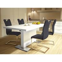 Scandinavian Living Summer White High Gloss Dining Table