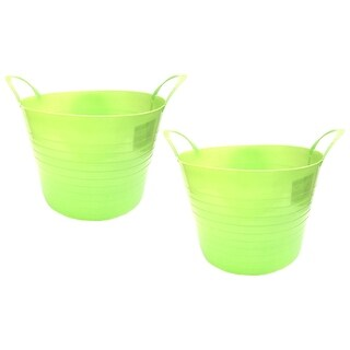 7 Gal. Plastic Bucket, 2pk, Lime Green