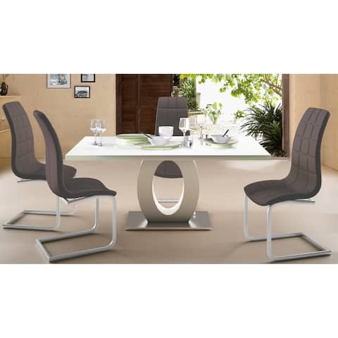 Scandinavian Living Bruno Faux Leather Dining Chairs (Set of 4) - 41 inches high x 21.7 inches wide x 16.7 inches de