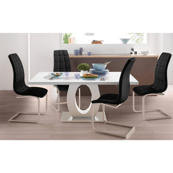 Scandinavian Living Bruno Faux Leather Dining Chairs (Set of 4)