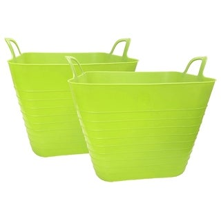 40 Liter Multi-Purpose Square Flex Tub - 2 Pack - Lime Green