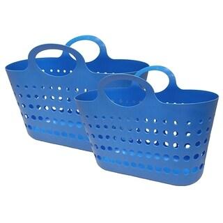 Flex Beach Tote Basket - 2 Pack - Blue