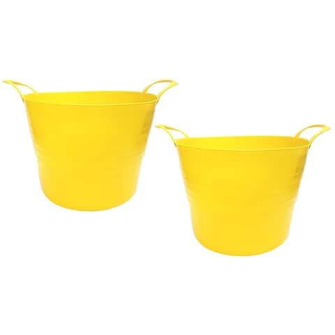 7 Gal. Plastic Bucket, 2pk, Yellow