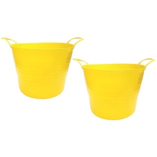 7 Gal. Plastic Bucket, 2pk, Yellow