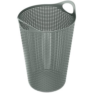 70 Liter Flex Wicker Laundry Hamper,2pk, Grey