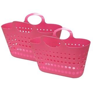 Flex Beach Tote Basket - 2 Pack - Red Apple