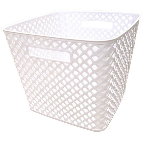 Square Deco Basket - 2 Pack - White