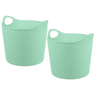 Rattan 40 Ltr Multi-Purpose Flex Tub 2 pk, Teal