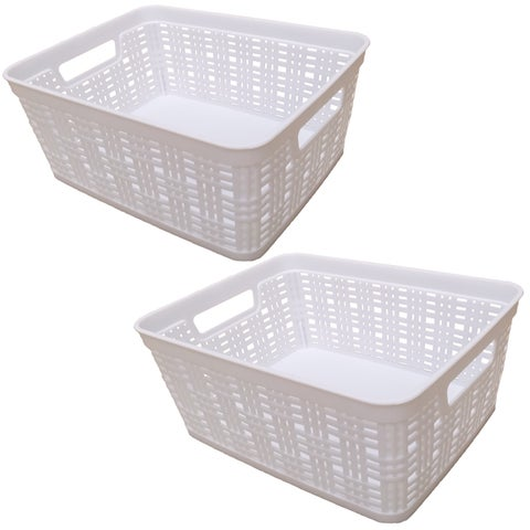 Small Deco Basket - 2 Pack - White