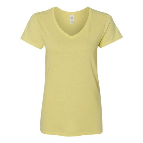 Women's Junior Cotton V-Neck T-Shirt Tank Top Tees