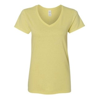 Women's Junior Cotton V-Neck T-Shirt Tank Top Tees
