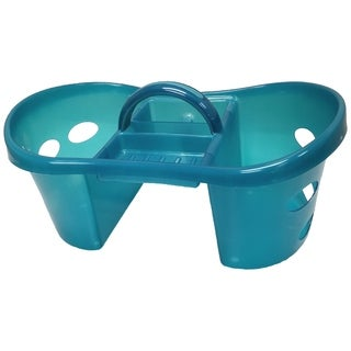 Turquoise Plastic Shower/ Cleaning Caddy Tote