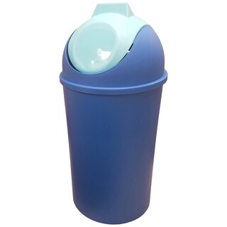 Swing Top Trash Can, Blue