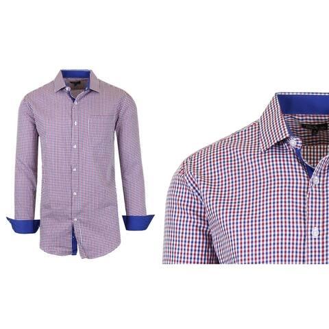 Galaxy by Harvic Men's Long Sleeve Patterned Dress Shirts