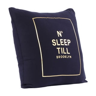 Brooklyn Industries - No Sleep Till Brooklyn Organic Cotton Throw Pillow