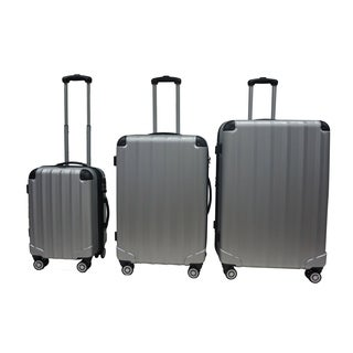 Rivolite Evolution Silver 3-piece Hardside Spinner Luggage Set