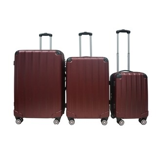 Rivolite Evolution Burgundy 3-piece Hardside Spinner Luggage Set
