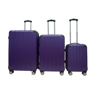 Rivolite Evolution Purple 3-piece Hardside Spinner Luggage Set