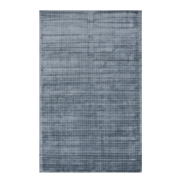 Shop Handwoven Blue Contemporary Solid Milano Rug 8 9 X