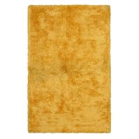 Handmade Yellow Solid London Shag Rug - 7'9 x 9'9