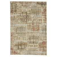 "Capel Rugs Jacob-Mirage Tan Rectangle Machine Woven Rug (7'8"" x 5'3"")"