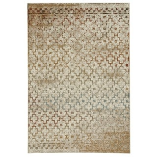 "Capel Rugs Jacob-Mission Persimmon Rectangle Machine Woven Rug (4'7"" x 2'7"")"