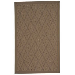 Capel Rugs Llano-Umber Cafe Rectangle Machine Woven Rug (4' x 4')