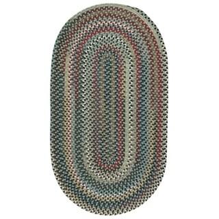 "Capel Rugs Bunker Hill Leaf Green Runner Braided Rug (9' x 2'3"")"