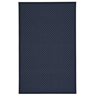Capel Rugs Tack Dark Blue Runner Machine Tufted Rug