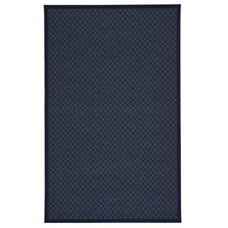 Capel Rugs Tack Dark Blue Runner Rug (12' x 2'6)