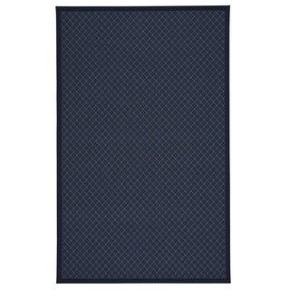 Capel Rugs Tack Dark Blue Rectangle Machine Tufted Rug (3' x 2')