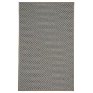 Capel Rugs Tack Dark Tan/ Grey Olefin and Acrylic Runner Rug (2'6 x 12')
