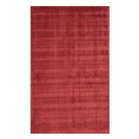 """Handwoven Red Contemporary Solid Milano Rug - 8'9"""" x 11'9"""""""