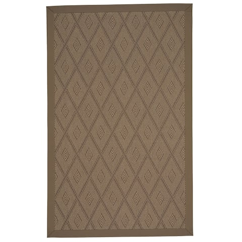 Llano-Umber Cafe Rectangle Machine Woven Rug