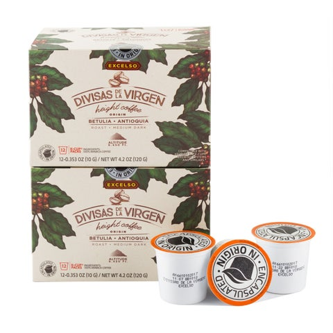 Colombian Coffee k-cup Divisas De La Virgen- Excelso 24 Count Roasted and Packed in Origin (Colombia)