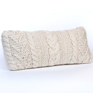 Chunky Hand Knit Long Throw Pillow