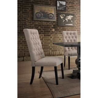 Cole Valley Rustic Distressed Oak Upholstered Dining Chair