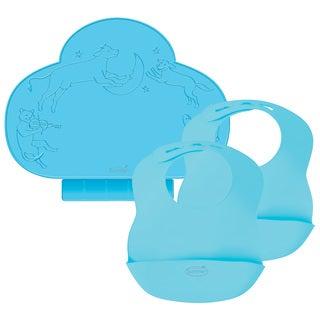 Kiddopotamus Tiny Diner & Bibbity 2-Pack Gift Set - Blue